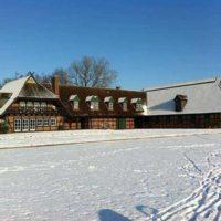 Elisenhof building at winter time