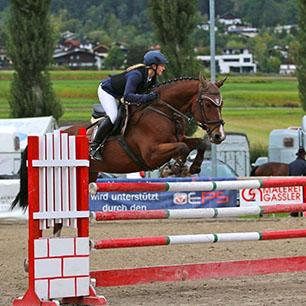 Referenzpferd: Wallach von Levantos mit Reiterin
